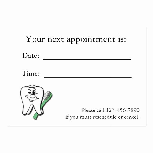 Free Appointment Card Template Unique Doctor Appointment Business Card Templates