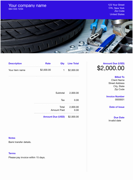 Free Auto Repair Invoice Template Lovely Free Auto Repair Invoice Template Download now