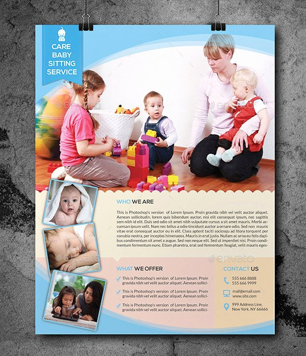 Free Babysitting Flyer Template Awesome 13 Fabulous Psd Baby Sitting Flyer Templates In Word Psd