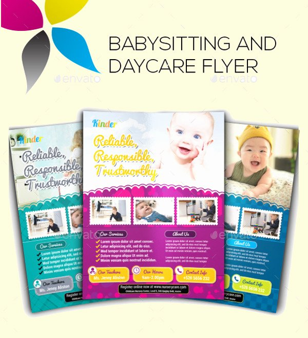Free Babysitting Flyer Template Awesome 20 Beautiful Babysitting Flyer Templates & Creatives