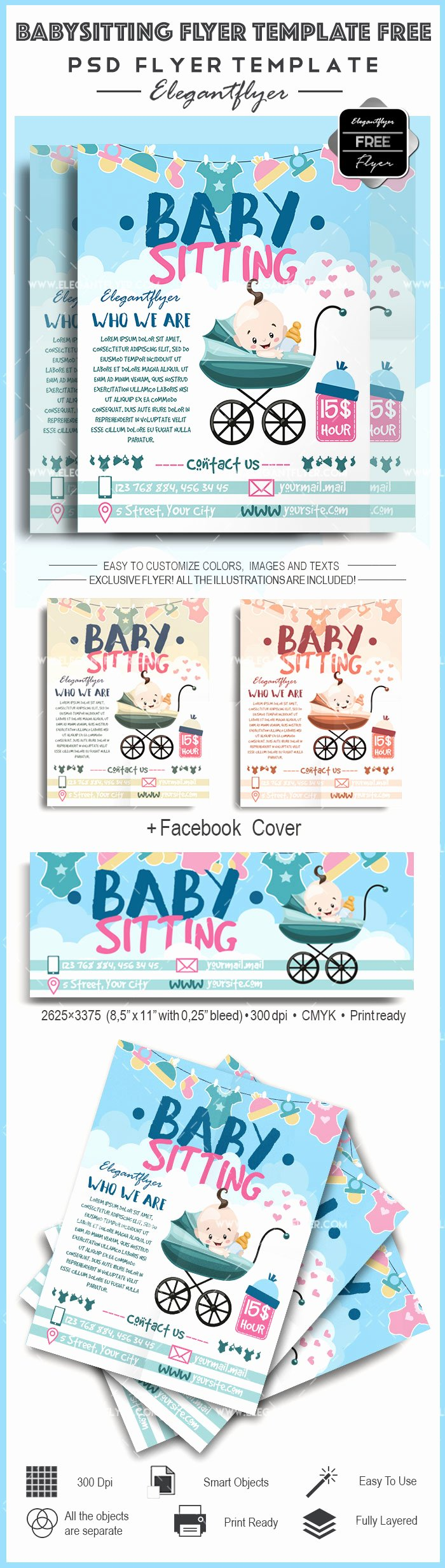 Free Babysitting Flyer Template Awesome Free Babysitting Psd Template – by Elegantflyer