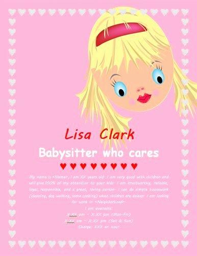 Free Babysitting Flyer Template Best Of 17 Best Images About Babysitting Flyer Template On