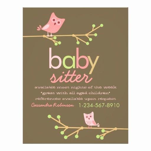 Free Babysitting Flyer Template Best Of Mod Owls Babysitter Advertisement Flyer Zazzle