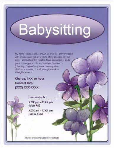Free Babysitting Flyer Template Elegant 10 Best Babysitting Flyer Template Images On Pinterest
