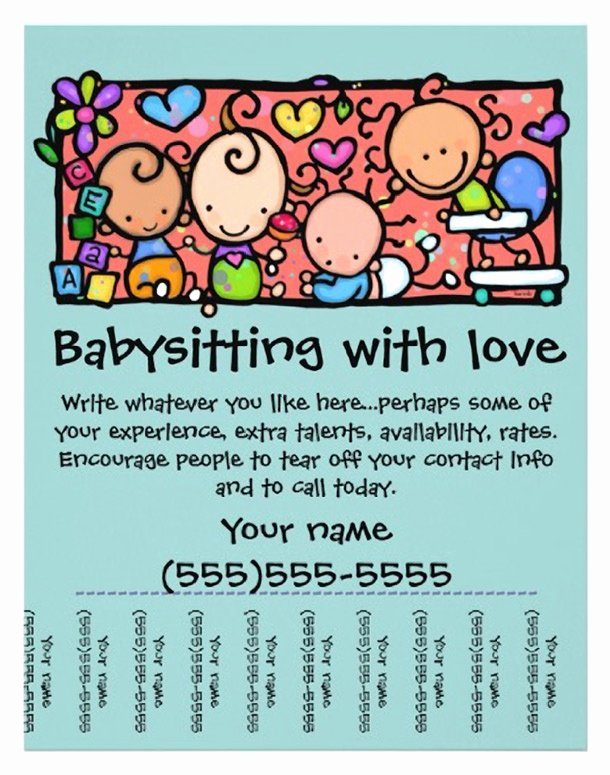 Free Babysitting Flyer Template Fresh Babysitting Quotes for Flyers Quotesgram