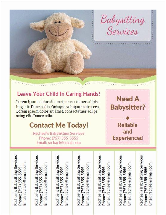 babysitting flyers