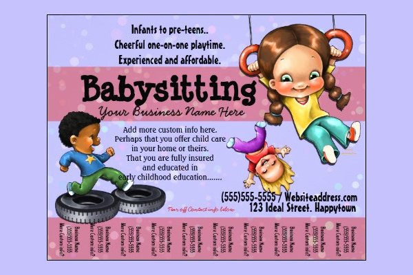 Free Babysitting Flyer Template Luxury 13 Fabulous Psd Baby Sitting Flyer Templates In Word Psd