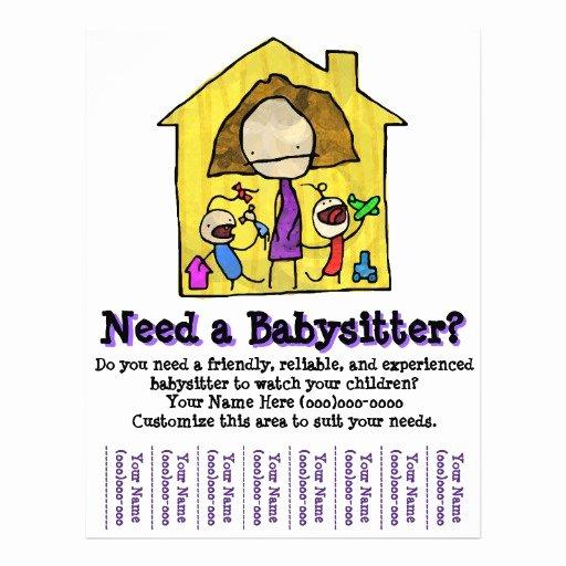 Free Babysitting Flyer Template Luxury Babysitting Babysitter Child Care Template Flyer