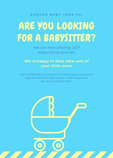 Free Babysitting Flyer Template Luxury Customize 11 Babysitting Flyer Templates Online Canva