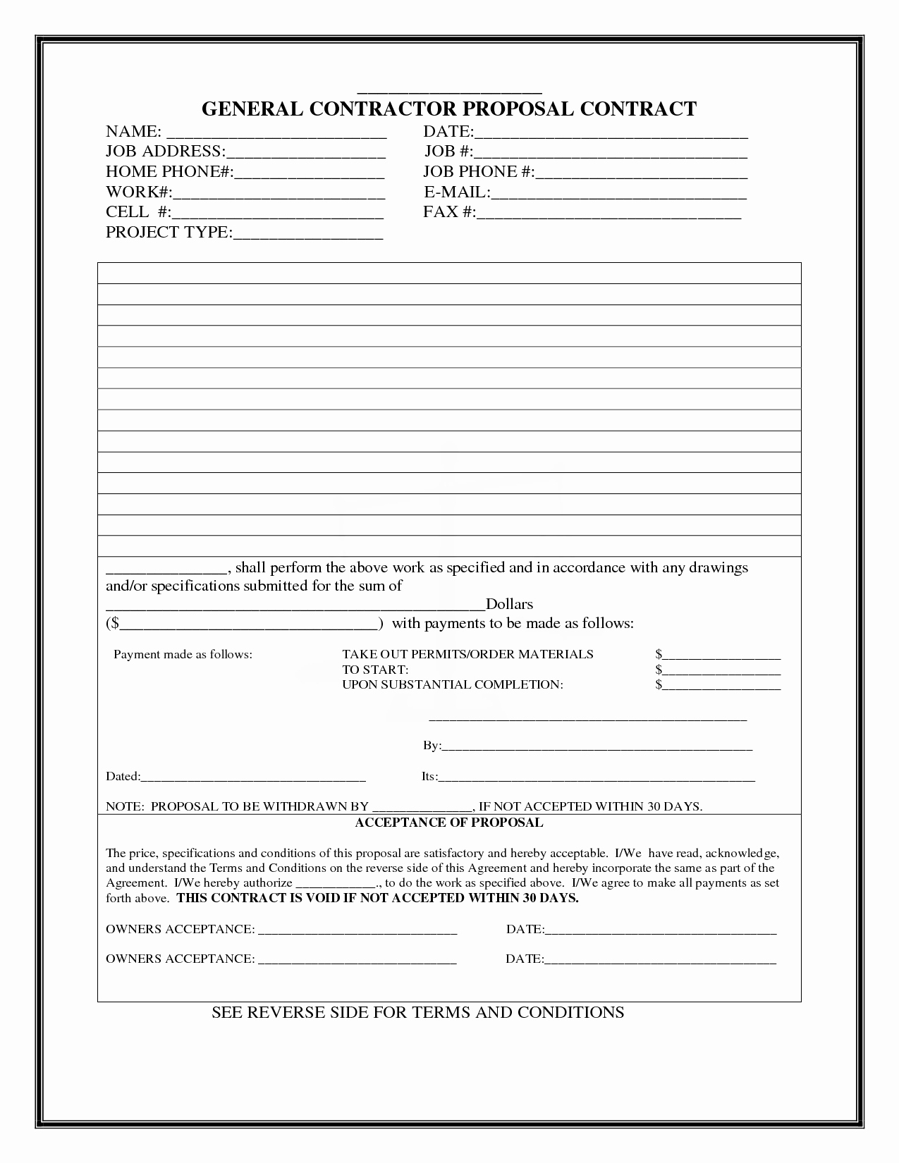 Free Bid Proposal Template Luxury Construction Proposal Template