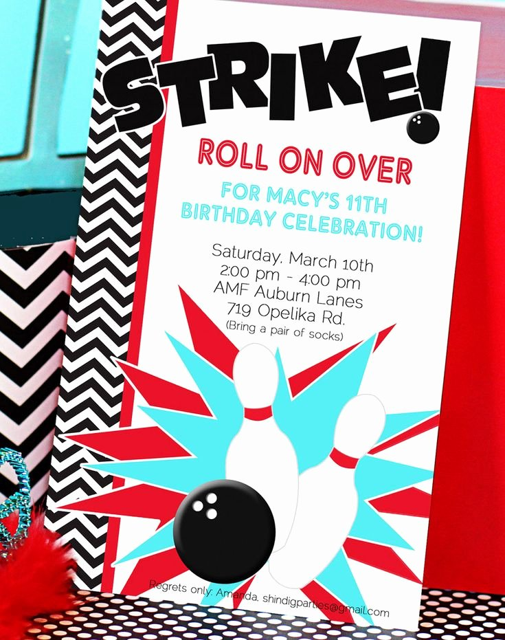 Free Bowling Invitation Template Awesome Bowling Party Invitation