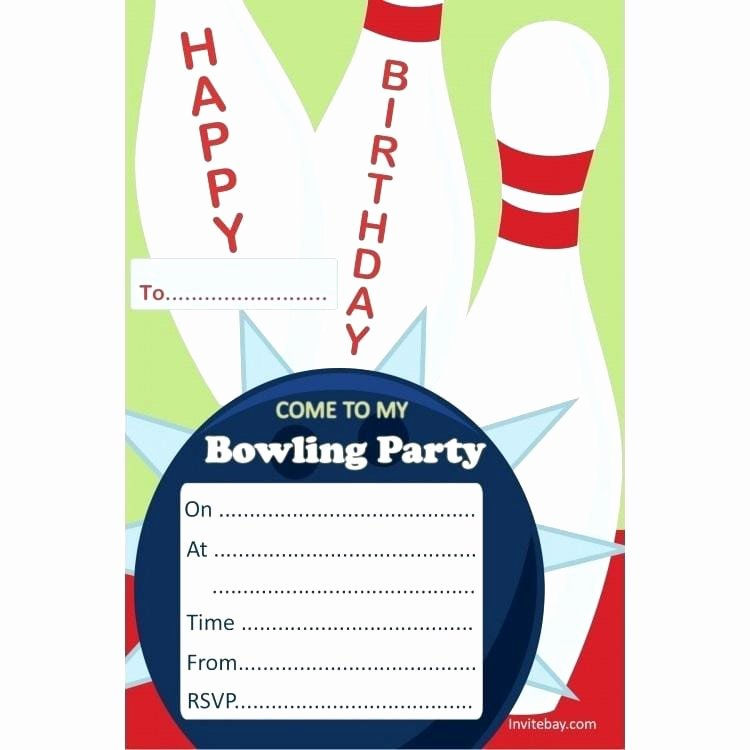 Free Bowling Invitation Template Awesome Bowling Party Invitation Templates Free