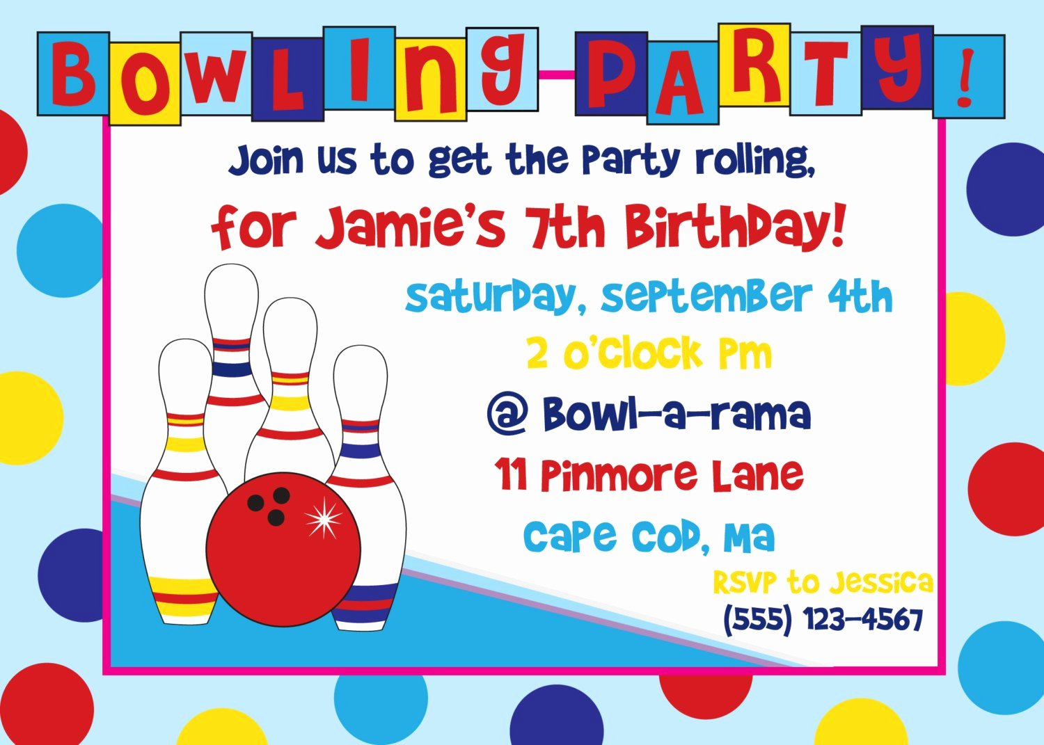 Free Bowling Invitation Template Awesome Free Bowling Birthday Party Invitations Print