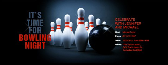 Free Bowling Invitation Template Beautiful Send Free Online Bowling Party or League Invitations