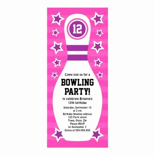Free Bowling Invitation Template Best Of Bowling Pin Birthday Party Invitation with Stars