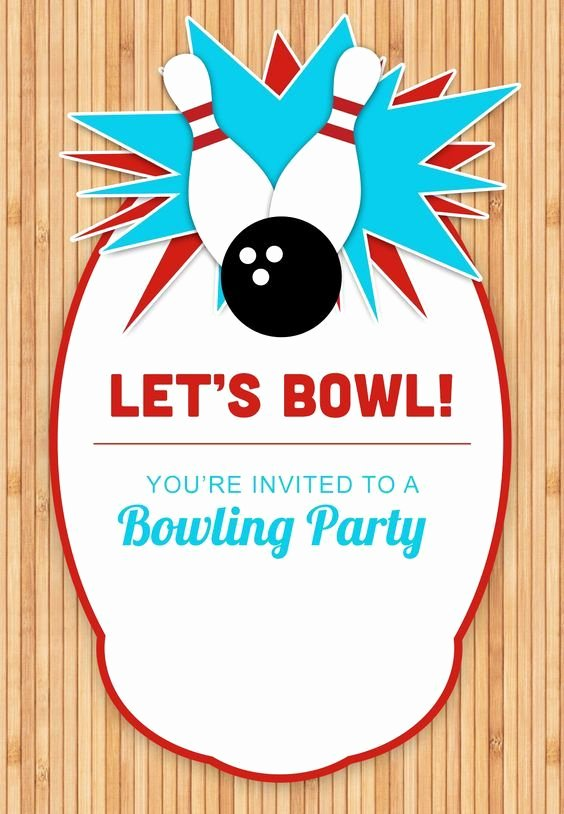 Free Bowling Invitation Template Elegant Bowling Party Free Printable Birthday Invitation