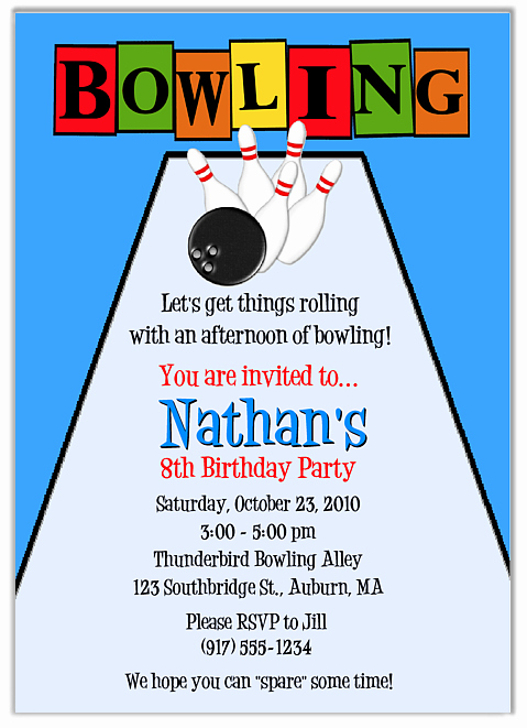Free Bowling Invitation Template Elegant Free Free Printable Bowling Party Invitation Templates