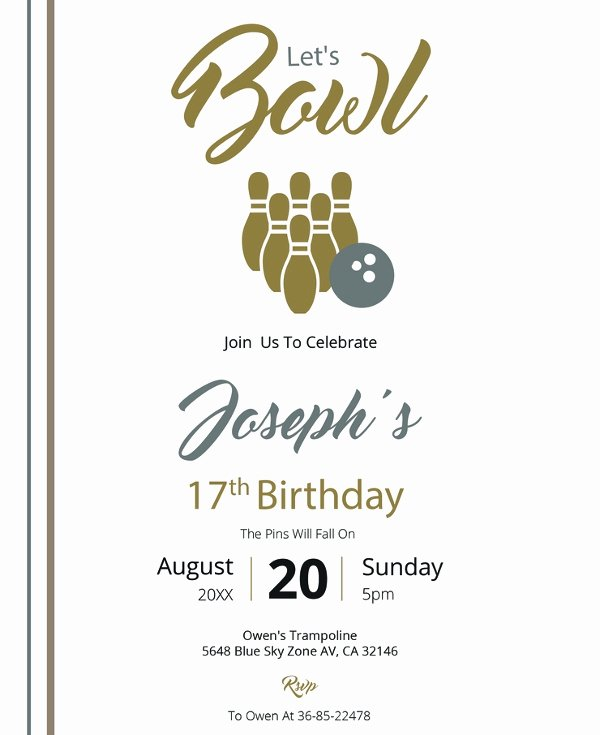 Free Bowling Invitation Template Inspirational 24 Outstanding Bowling Invitation Templates & Designs