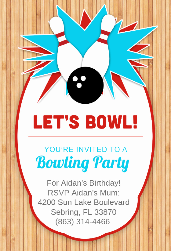 Free Bowling Invitation Template Lovely Bowling Party Invitation Template Free