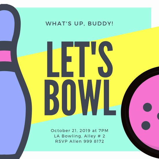 Free Bowling Invitation Template New Customize 86 Bowling Invitation Templates Online Canva