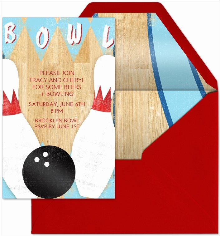 Free Bowling Invitations Template Beautiful 24 Outstanding Bowling Invitation Templates & Designs