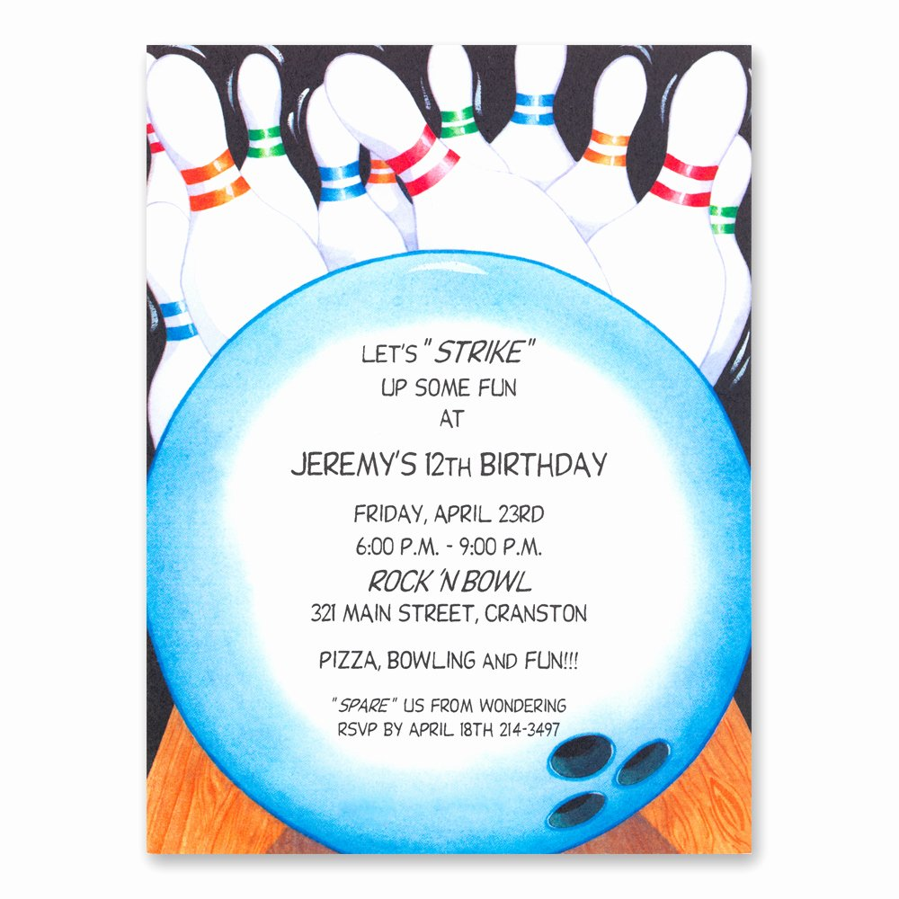Free Bowling Invitations Template Beautiful Bowling Party Invitations Templates Ideas Bowling Party
