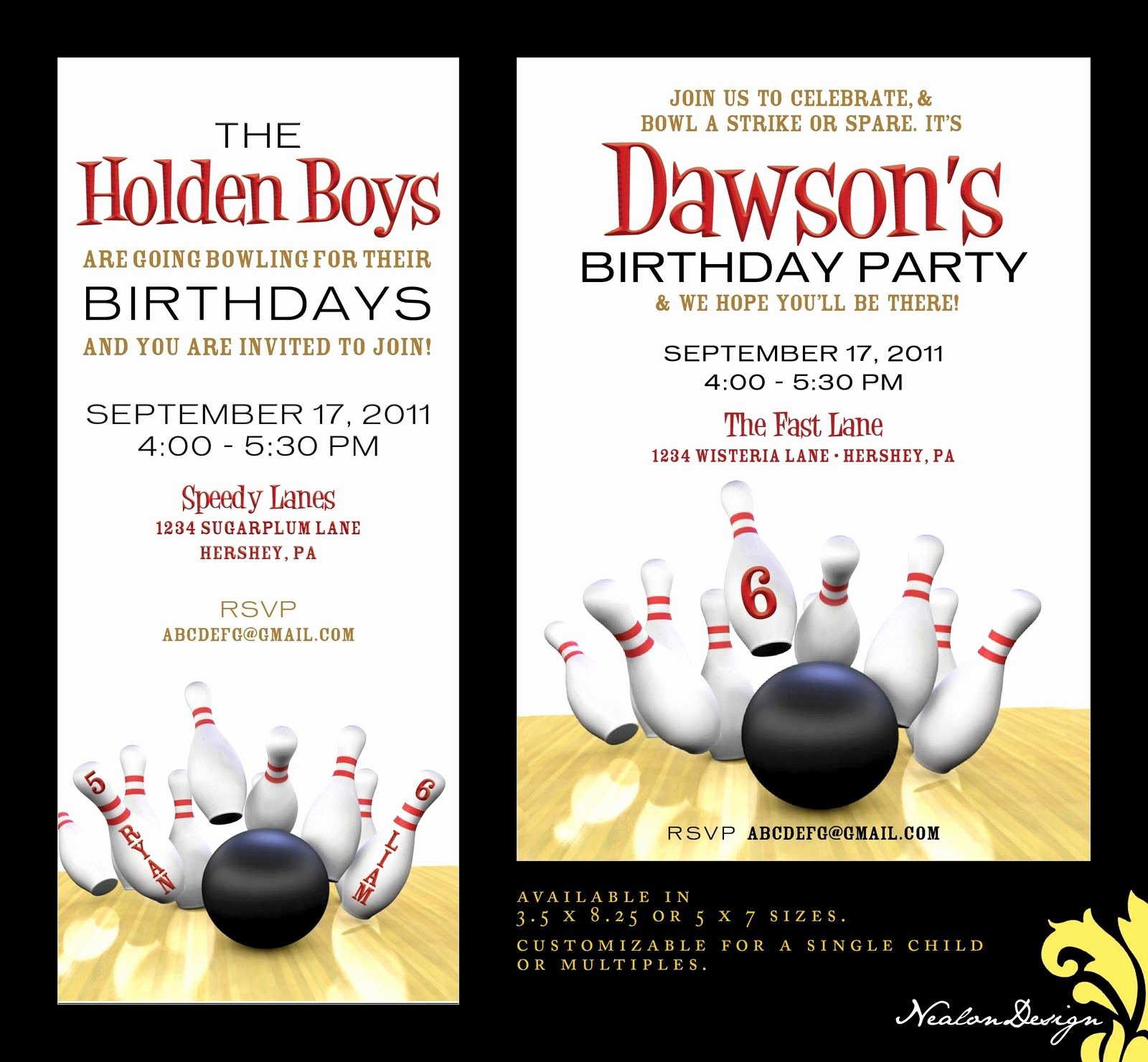 Free Bowling Invitations Template Elegant Bowling Party Invites Birthday Party Ideas
