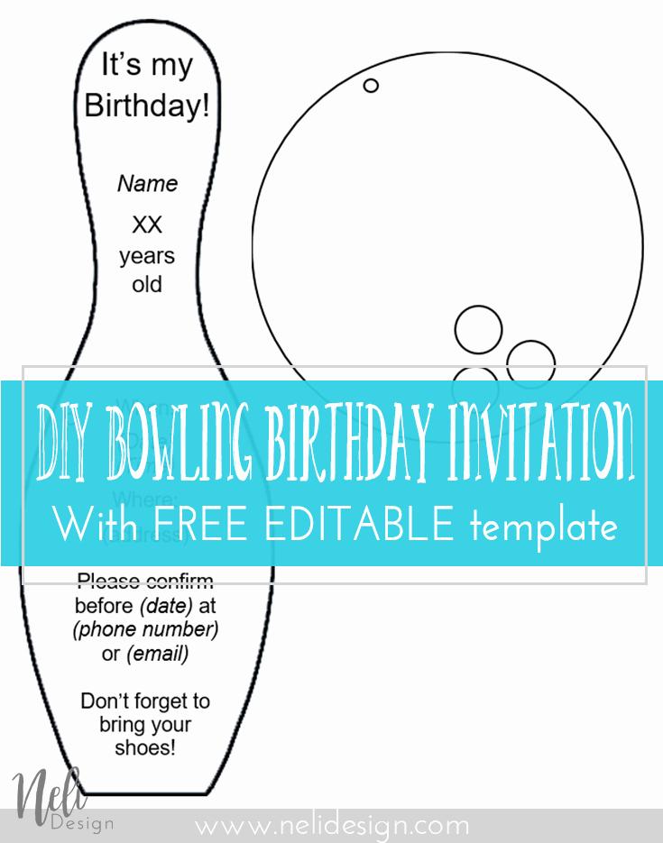 Free Bowling Invitations Template Elegant Diy Bowling Birthday Invitations