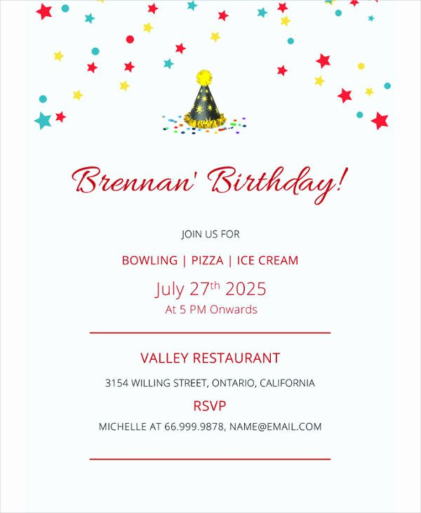 Free Bowling Invitations Template Fresh 17 Bowling Party Invitation Designs & Templates Psd Ai