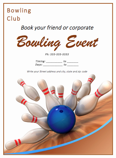Free Bowling Invitations Template Inspirational Bowling Match Flyer Template Free Flyer Templates