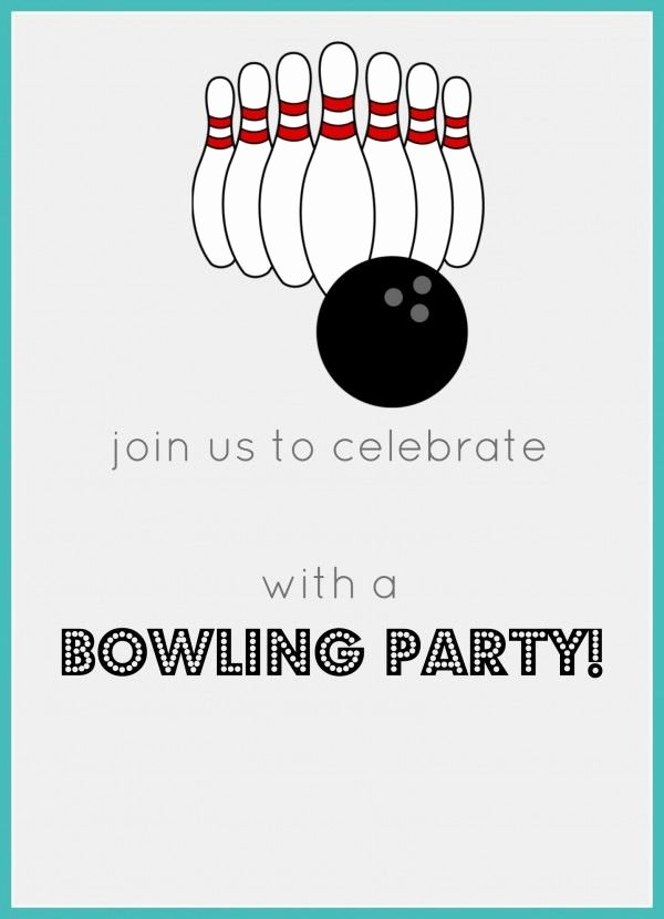Free Bowling Invitations Template Inspirational Free Printable Bowling Birthday Party Invitation