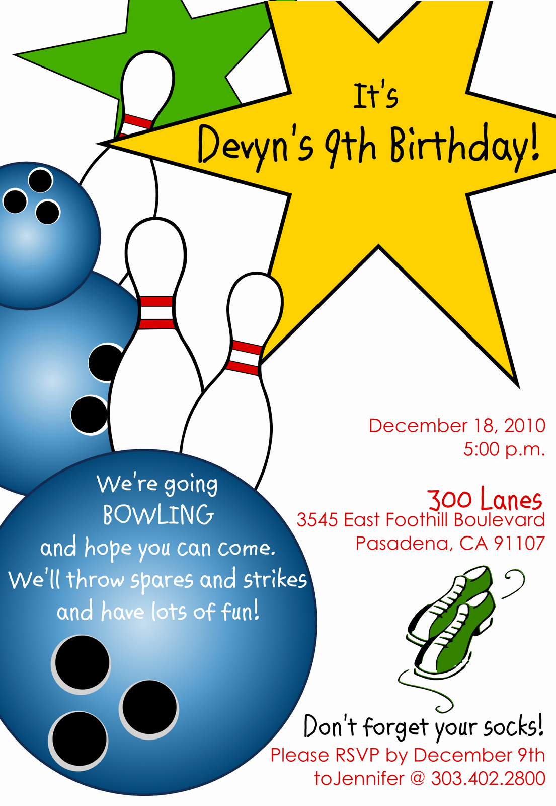 Free Bowling Invitations Template Lovely Free Printable Bowling Birthday Invitations