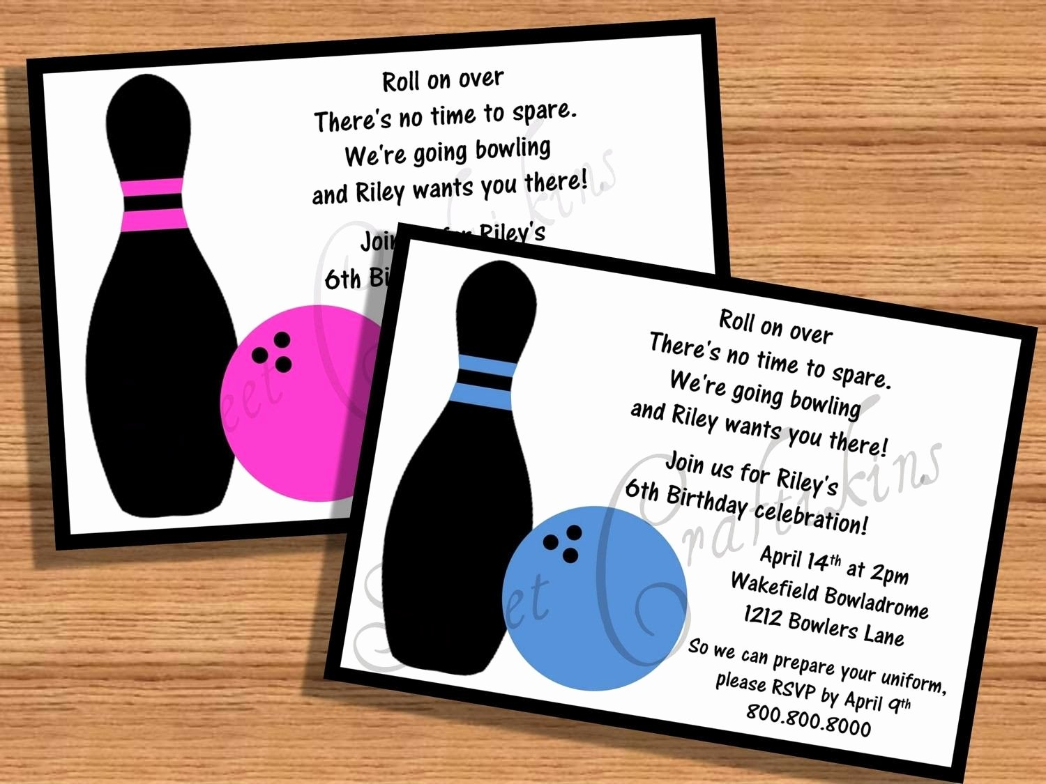 Free Bowling Invitations Template Luxury Kids Birthday Party Invitations Templates Free Printable