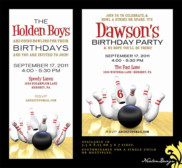 Free Bowling Invitations Template New 7 Free Sample Bowling Game Invitation Templates