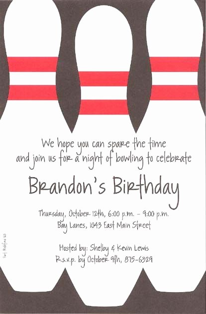 Free Bowling Invitations Template New Bowling Party Invitations Template Free