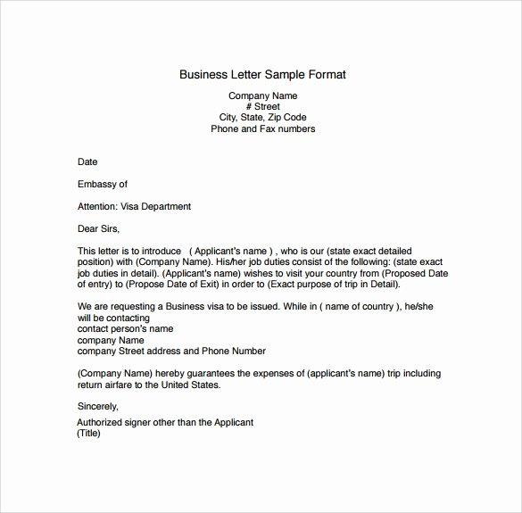 Free Business Letter Template Best Of Business Letters format 15 Download Free Documents In