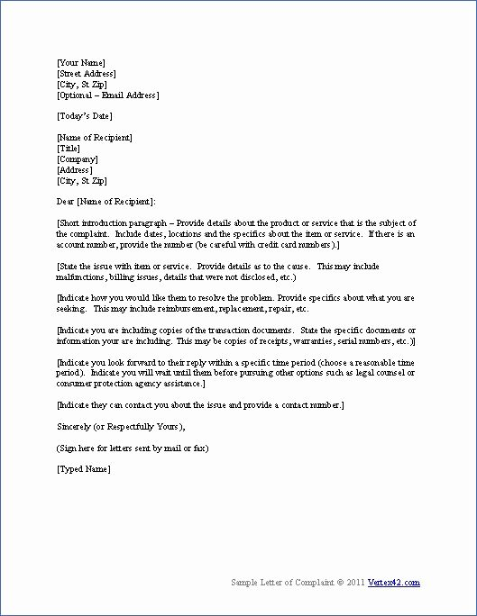 Free Business Letter Template Best Of Download the Plaint Letter Template From Vertex42