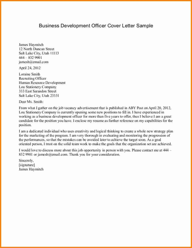 Free Business Letter Template Fresh Business Letter format Example