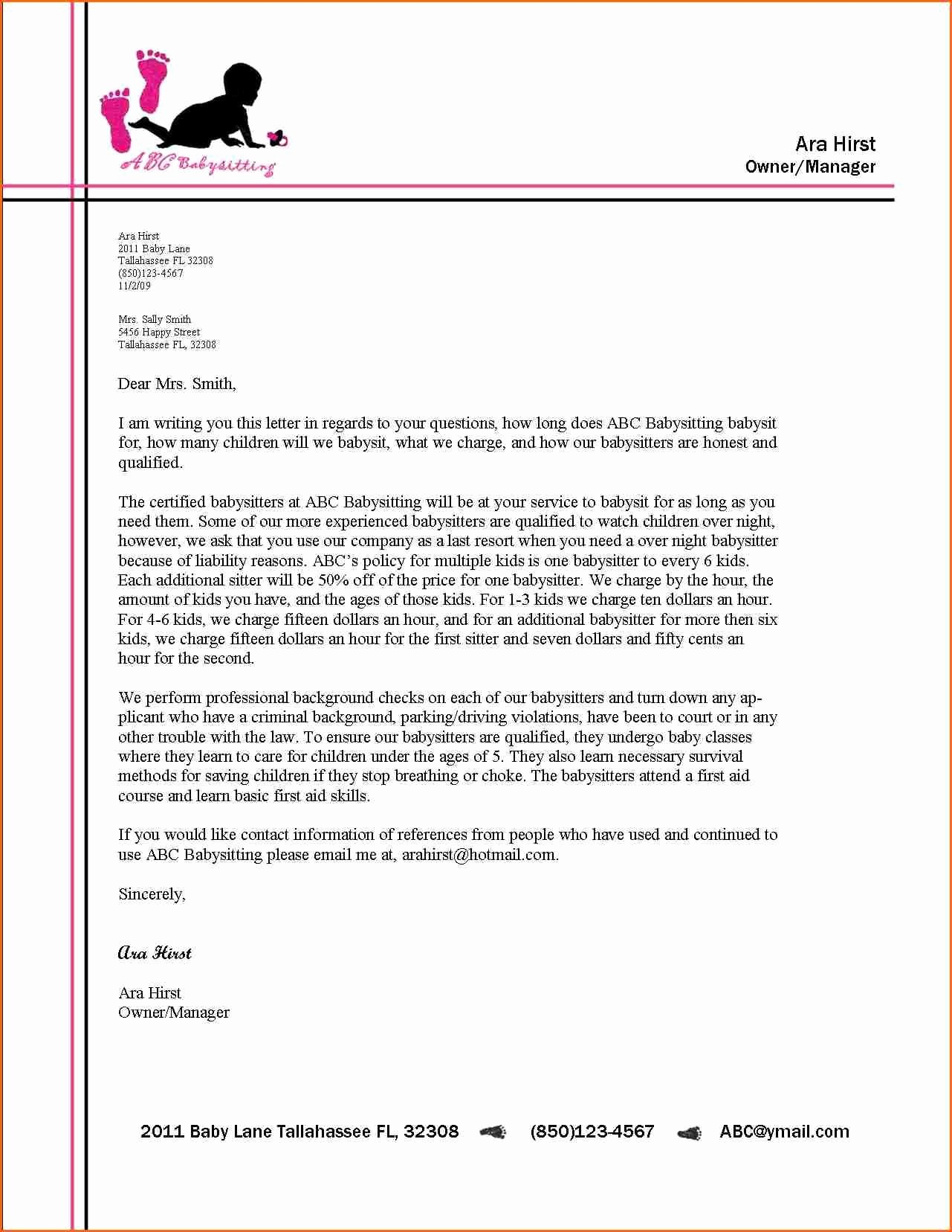 Free Business Letter Template Inspirational Business Letter format Letterhead Example Alberta