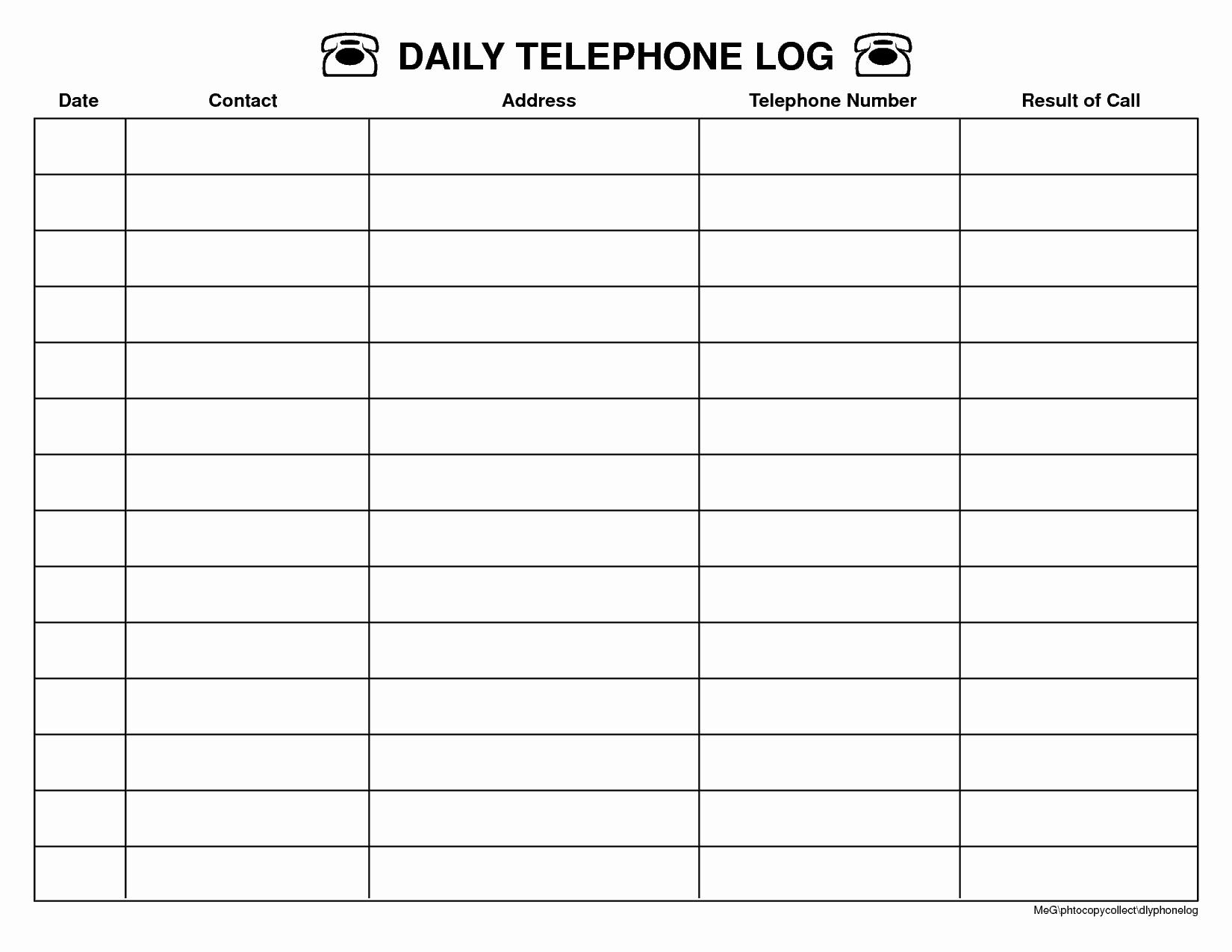 Free Call Log Template Elegant top 5 Resources to Get Free Call Log Templates – Word