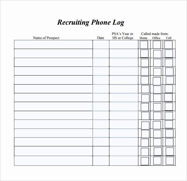 Free Call Log Template Fresh Phone Log Template 8 Free Word Pdf Documents Download