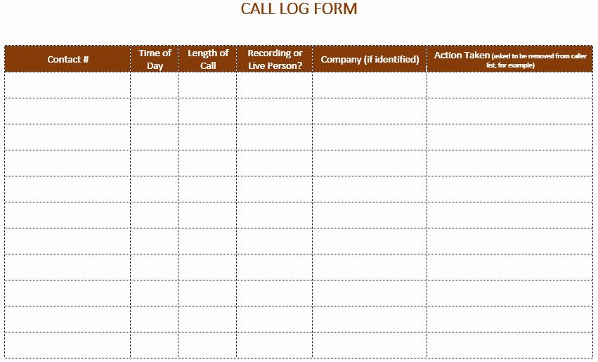 Free Call Log Template Inspirational 5 Call Log Templates to Keep Track Your Calls