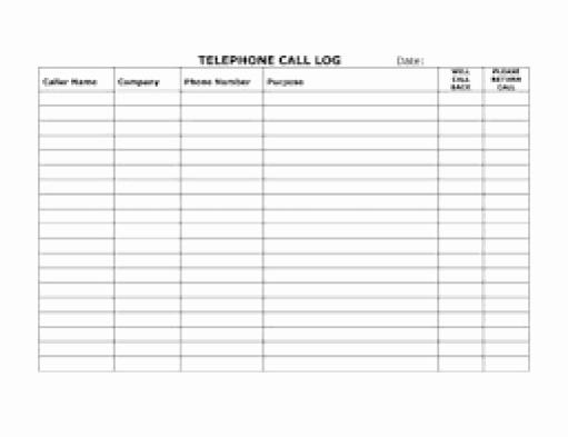Free Call Log Template Inspirational top 5 Resources to Get Free Call Log Templates Word