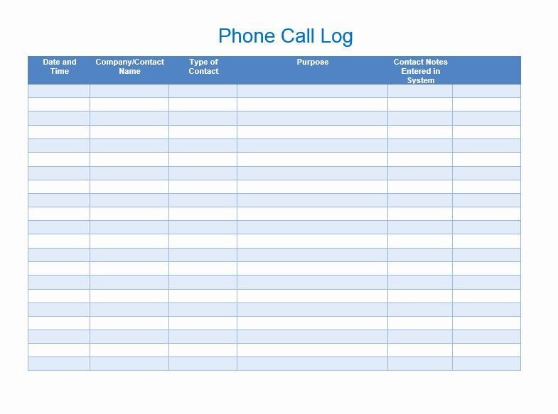 Free Call Log Template Luxury Sales Call List Templates 5 Free Templates Word Templates