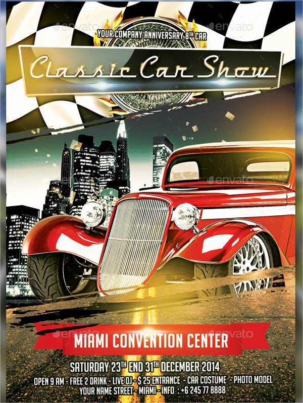 Free Car Show Flyer Template Awesome 25 Car Show Flyer Templates Free & Premium Download