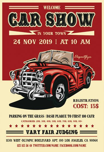 Free Car Show Flyer Template Awesome Party for Mardi Gras Festival – by Elegantflyer