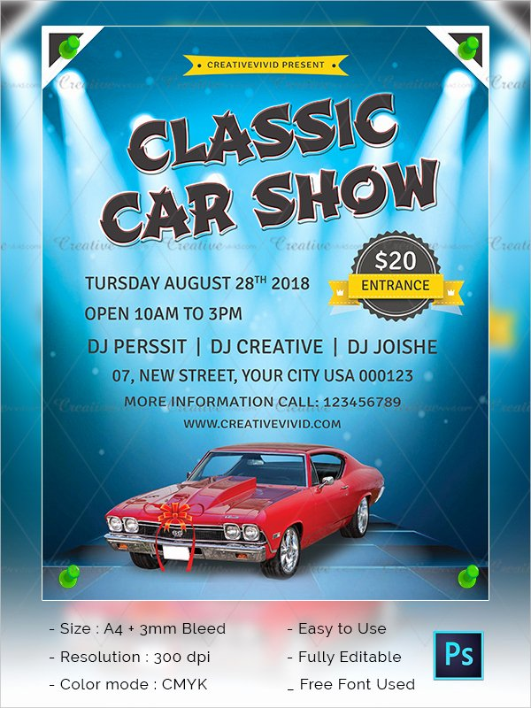 Free Car Show Flyer Template Beautiful 25 Car Show Flyer Templates Free & Premium Download