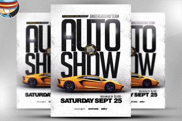 Free Car Show Flyer Template Beautiful 26 Modern Car Show Flyer Designs & Creatives Ai Docs Psd