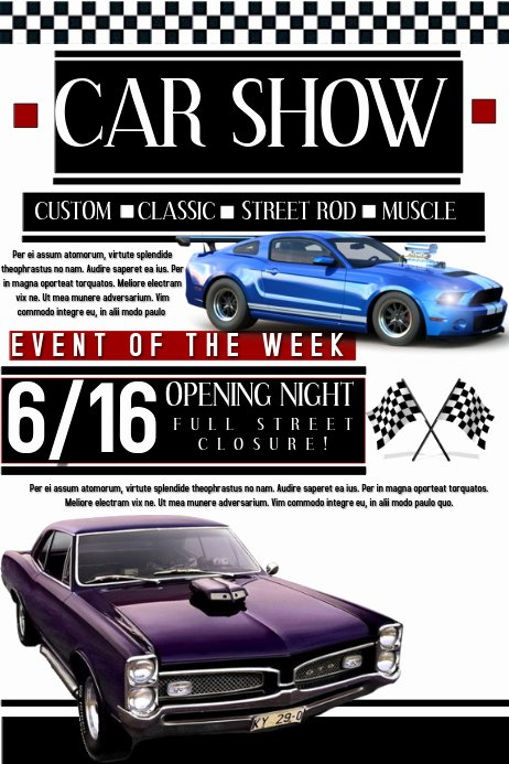 Free Car Show Flyer Template Beautiful Car Show Template
