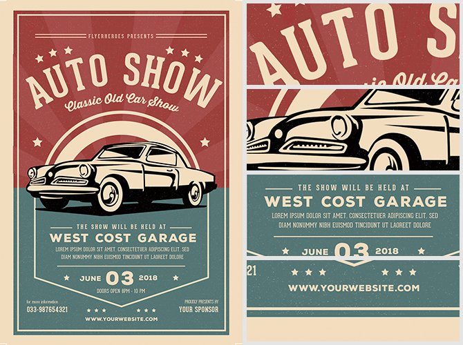Free Car Show Flyer Template Luxury Old Classic Car Show Flyer Template Flyerheroes